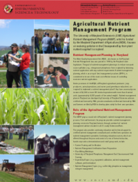 UMD Agricultural Nutrient Management Program PDF