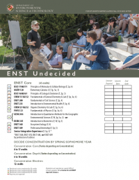 ENST Undecided Major Curriculum Sheet